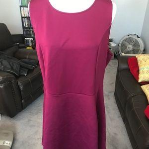 Wine Color Skater Dress